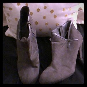 Faux gray booties size 9